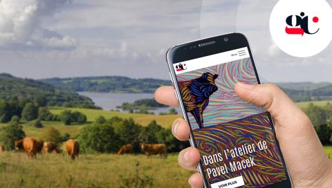 Appli mobile GéoCulture - Le Limousin vu par les artistes
